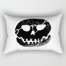 Glow skull Black Rectangular Pillow