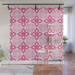 Bold Medieval Pinks Wall Mural