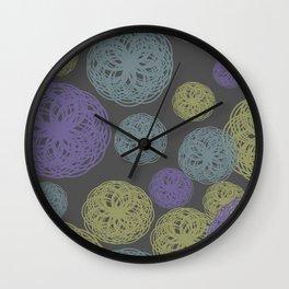 Colorful Twisted Yarn Wall Clock