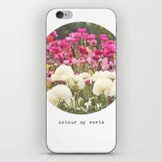 Colour My World iPhone & iPod Skin