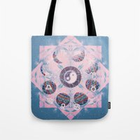 trippy Tote Bags featuring Trippy by Sara Eshak
