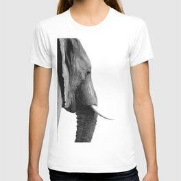 Black and white elephant portrait T-shirt