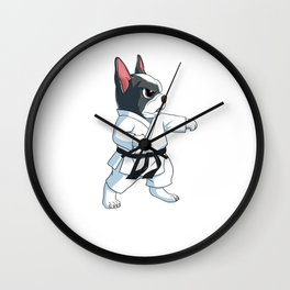 This Dog karate French Bulldog design is the perfect gift for martial artists who loves Taekwondo Wall Clock