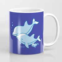 dolphins Mugs featuring Dolphins by joanfriends