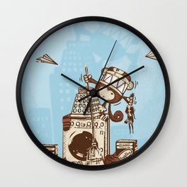 Laundry Monkie Wall Clock