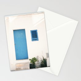 "Travel photography print ""Ibiza blue and white"" photo art made in the old town of Eivissa / Ibiza Stationery Cards"