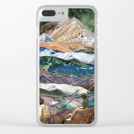 Infinite mountains Clear iPhone Case