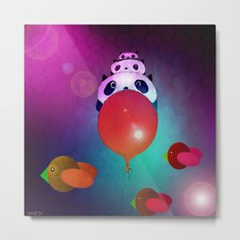 The journey of the family panda Metal Print