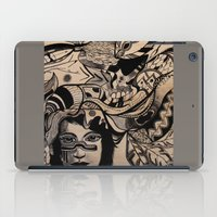 headdress iPad Cases featuring Headdress by creative kids