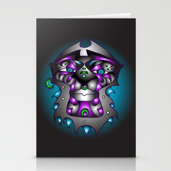 Ashanti-Purple Stationery Cards