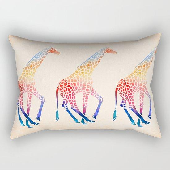 Watercolor Giraffe Rectangular Pillow