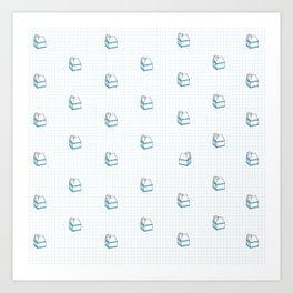 Milk Carton Pattern  Art Print