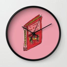 I Like You A Lot Wall Clock