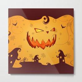 Halloween Smile Metal Print