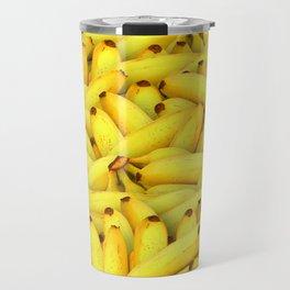 Yellow Bananas pattern Travel Mug