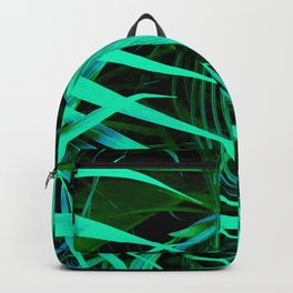 Chic Palm Leaves Avant-Garde Fine Art Photo Backpack