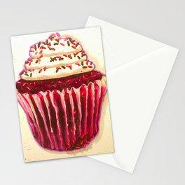 Red Velvet cupcake Stationery Cards