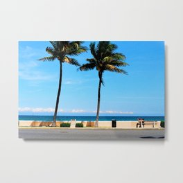 palm beach couple Metal Print