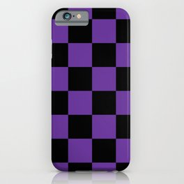 Halloween Purple and Black Checkerboard Pattern LG iPhone Case