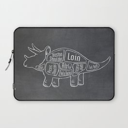 Triceratops Dinosaur (A.K.A Three Horn Face) Butcher Meat Diagram Laptop Sleeve