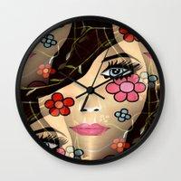 blossom Wall Clocks featuring Blossom by Sartoris ART