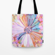 Daisy on Triangles Tote Bag