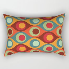Peacock Abstraction Pattern Rectangular Pillow
