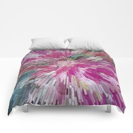 Abstract flower pattern 3 Comforters