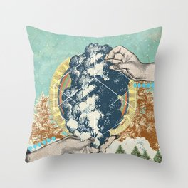 SMOKE GEOMETRY Throw Pillow