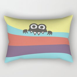 Yummy Colorful Stripes Cute Cartoon Character Rectangular Pillow