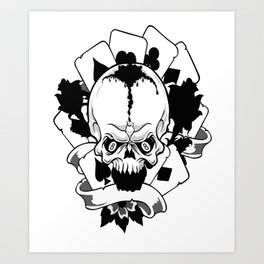 Wicked skull art, Custom gift design Art Print