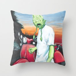 Canvey Island Monster Throw Pillow