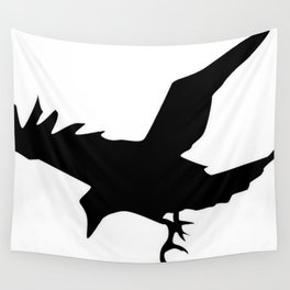 Raven A Halloween Bird Of Prey  Wall Tapestry