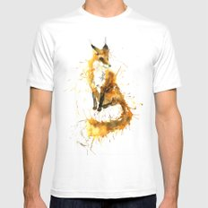 Bushy Tailed White Mens Fitted Tee MEDIUM