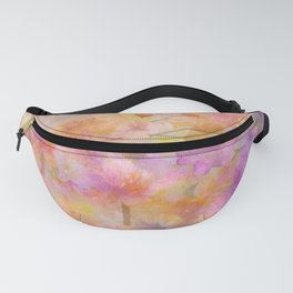 Sophisticated Painterly Floral Abstract Fanny Pack