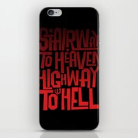 acdc iPhone & iPod Skins featuring HEAVEN AND HELL by All Kings