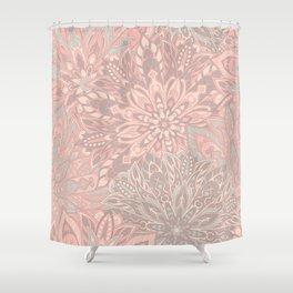 Pink pretty mandala pattern Shower Curtain