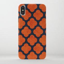 navy and orange clover iPhone Case