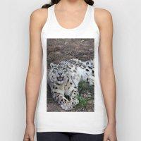 snow leopard Tank Tops featuring Snow Leopard by Kaleena Kollmeier