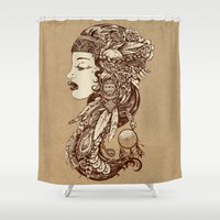 gypsy Shower Curtains featuring Gypsy Girl by Beery Method