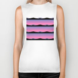 Abstract mountains horizons Biker Tank