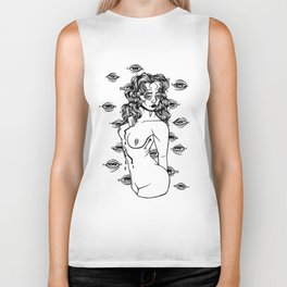 stab in the chest Biker Tank