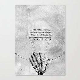 A Universe in a fist. Canvas Print