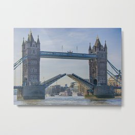 Tower Bridge Opened Metal Print