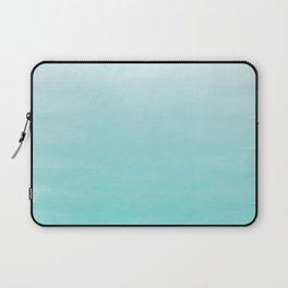 Modern teal watercolor gradient ombre brushstrokes pattern Laptop Sleeve