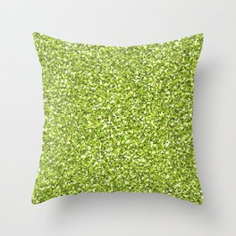 Green shine Throw Pillow