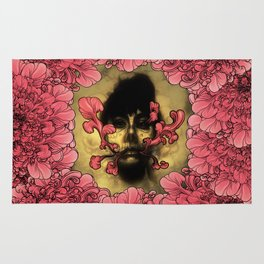 I Am Serius With Flowers Rug
