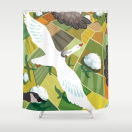Nils With Wild Geese Shower Curtain