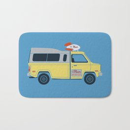 Galactic Pizza Van Bath Mat