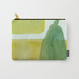 Green Stem Abstract Painting Carry-All Pouch